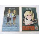 Affichettes ( 2 ) Nations Unies Enfance Vecon, Hove 1948