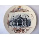 """Assiette Sarreguemines Exposition Universelle 1900 """"Palais de L'éducation"""""""