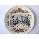 "Assiette Sarreguemines Exposition Universelle 1900 ""Esplanade des Invalides"""