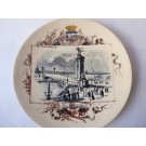 "Assiette Sarreguemines Exposition Universelle 1900 "" Pont Alexandre III """