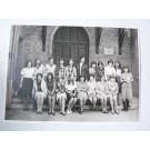Photo d'école de filles a Genève 1965 dédicacée