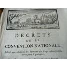 Décrets De La Convention Nationale XVIIIe siècle