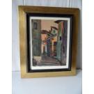 Tableau Peinture Sturzenegger 1950 Village