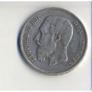 Piece de monnaie 5 francs Léopdold II 1869 - Belgique