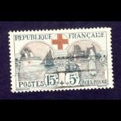Timbre France 1918 n° 156 Oblitéré Croix Rouge