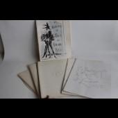 Programmes de théâtre Yves Saint Laurent Cocteau Femmes d'aujourd'hui