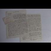 Lettre signée par Edy Legrand 1959