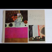 Dédicace du peintre René GENIS 1973