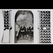 """Photo Charlie Chaplin et Oona """"La tour d'argent"""" 1952 AGIP Cohen cinéma"""