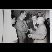Photo peintre Pablo Picasso Exposition Pignon Galerie de France 1953