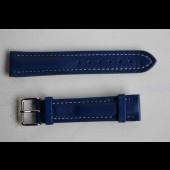 Bracelet montre cuir Tack & Gybe bleu + boucle