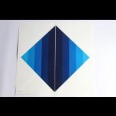 "Estampe Sérigraphie Couleurs Serge CANDOLFI ""Rouge Bleu"" 1"