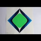 "Estampe Sérigraphie Couleurs Serge CANDOLFI ""Rouge Bleu"" 4"