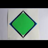 "Estampe Sérigraphie Couleurs Serge CANDOLFI ""Rouge Bleu"" 5"