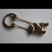 CARTIER porte-clefs sculpture en or et argent