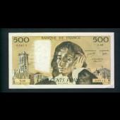 Billet 500 Francs PASCAL 3-2-1977.B. S.68  03815