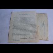 Lettre signée par le President Theodore Roosevelt 1915 Frederick Henry Pierce aviateur Norman Prince