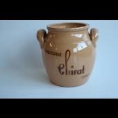 Pot pour la moutarde CHIRAT terre vernissée Art populaire