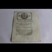 Proclamation du Roi 1791 Vosges