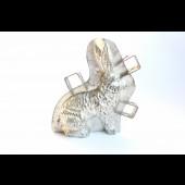 """Moule à chocolat ancien  """" lapin aux oreilles ondulées """""""