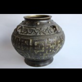 Ancien vase bronze Chine