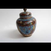 Petit vase couvert émaux cloisonné Japon XIXe sècle