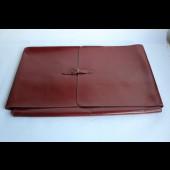 HERMES porte chemises de voyage cuir rouge Hermes