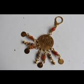 Bijoux (porte-clef) Egyptien argent massif et or (vermeil)