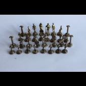 Jeu d'échecs miniature bronze PIPIS Grece