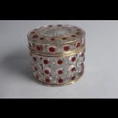 BACCARAT boite cristal émaillé modéle diamants 1890