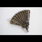 Eventail miniature poupée argent