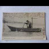 CPA Vieux pêcheur Neuchatel Suisse