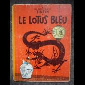 BD Tintin Hergé - Le Lotus Bleu - B24 - 1958