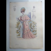 Grande Gravure Accessoires de Mode Femme 1900 Chapeaux