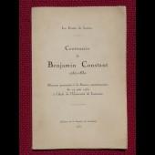 Livre Centenaire de Benjamin Constant
