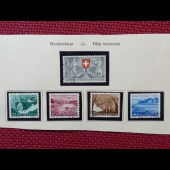 Timbre Suisse Fête Nationale 1953 à 1963 Oblitéré