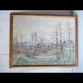 Tableau Peinture ZIEGLER Paysage Suisse