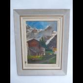 Tableau Peinture Village Haute-Savoie