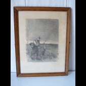 Gravure lithographiée POULBOR Guerre 1914-1918