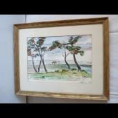 Tableau Peinture Paysage Genta 1952