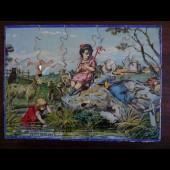 Ancien Puzzle chromo sur bois Fin XIXe siècle