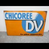 Ancienne Plaque émaillée Publicité Chicorée DV