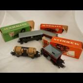 Ensemble 4 Wagons MARKLIN Voiture + Boites
