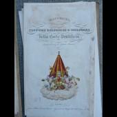 Gravure 1830 Costumi della Corte Pontificia Costume Militaire Religieux