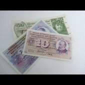 Billets 10-20-50 F Suisse