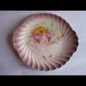 Plat céramique décor Fleurs BONN