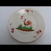 Assiette plate Faïence St CLEMENT Coq Céramique
