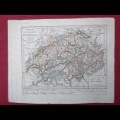 Gravure Carte Suisse époque 1820