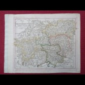 Gravure Carte Autriche époque 1820