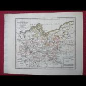 Gravure Carte Allemagne Brandenburg POMMERN époque 1820